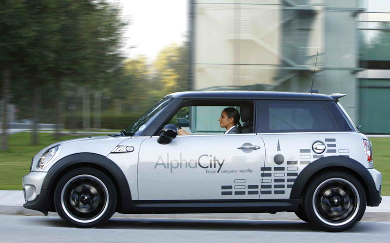 974 MINI AlphaShare corporate car sharing