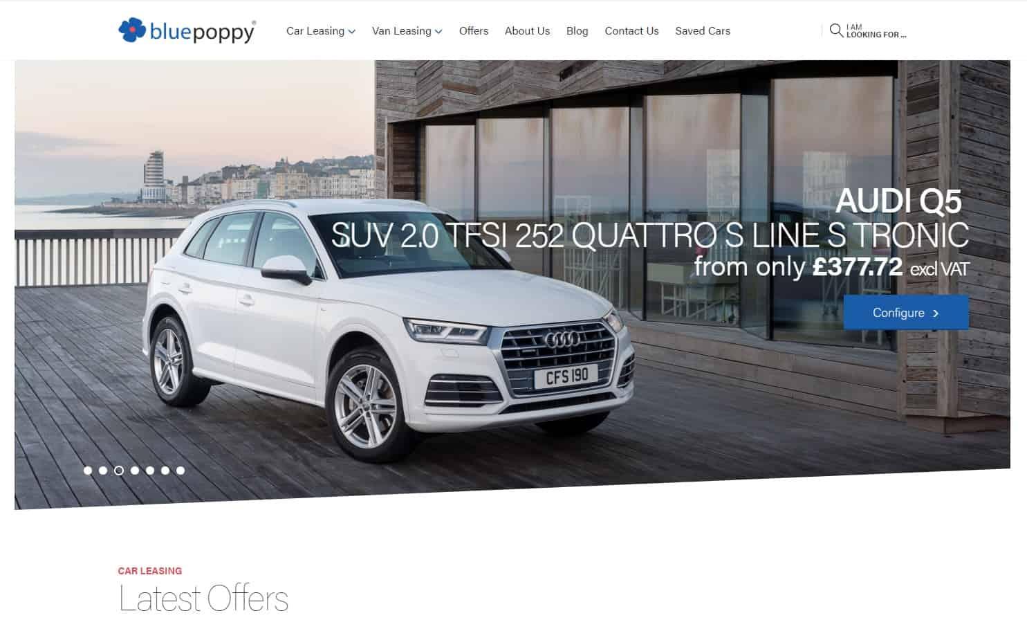 Bluepoppy website Audi Q5