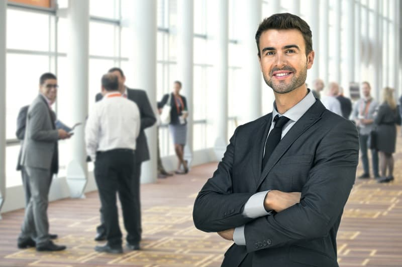 businessman at conference shutterstock 550201819