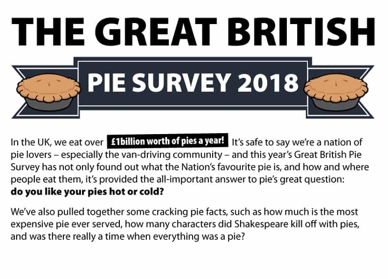 Pie survey header