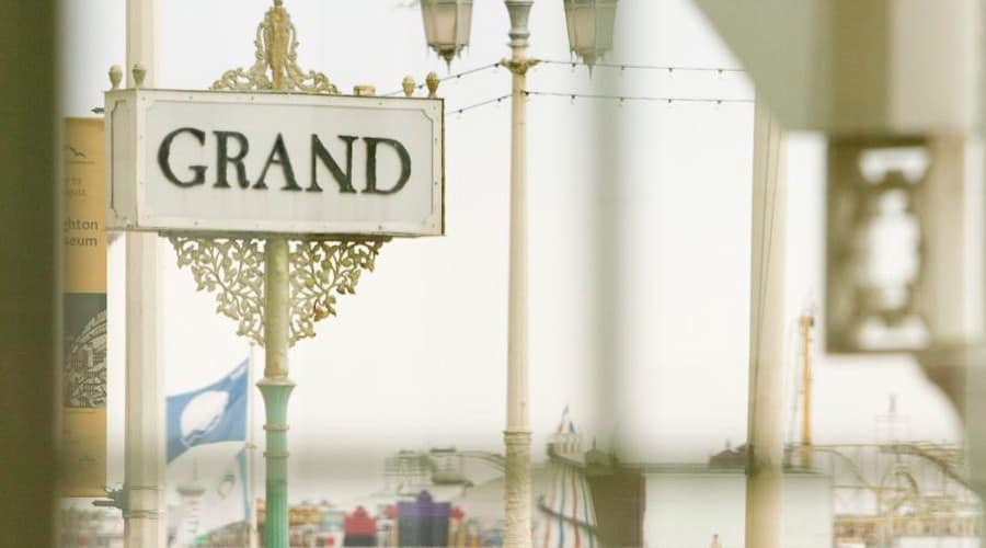 The Grand exterior 7 signpost