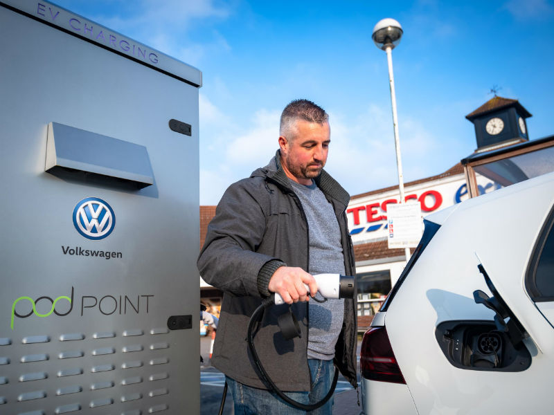 Volkswagen and Tesco chargepoint partnership 2