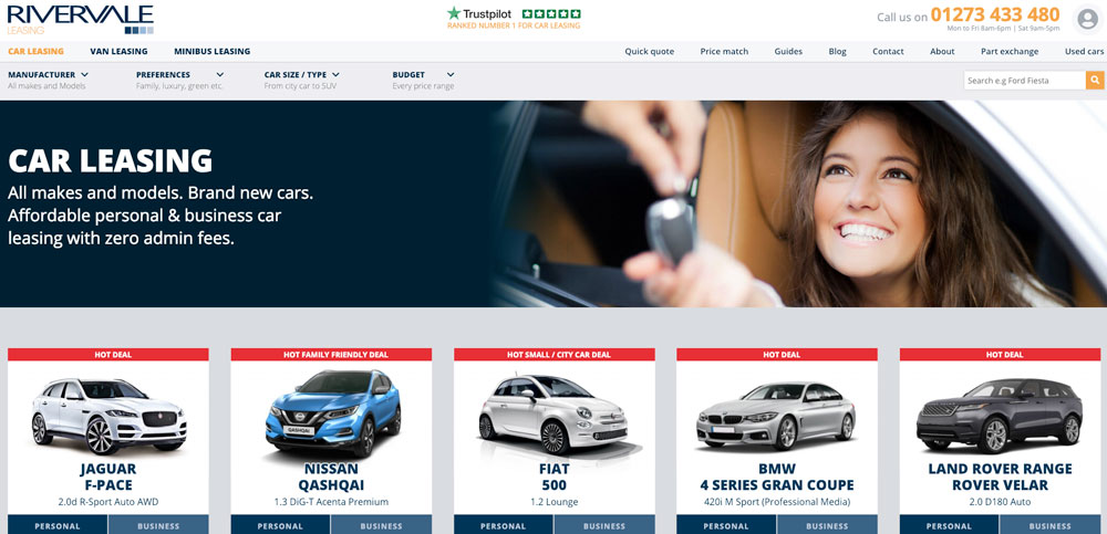 Rivervale Car Leasing Homepage